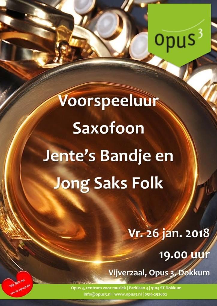 Voorspeeluur Saxofoon @ Opus 3