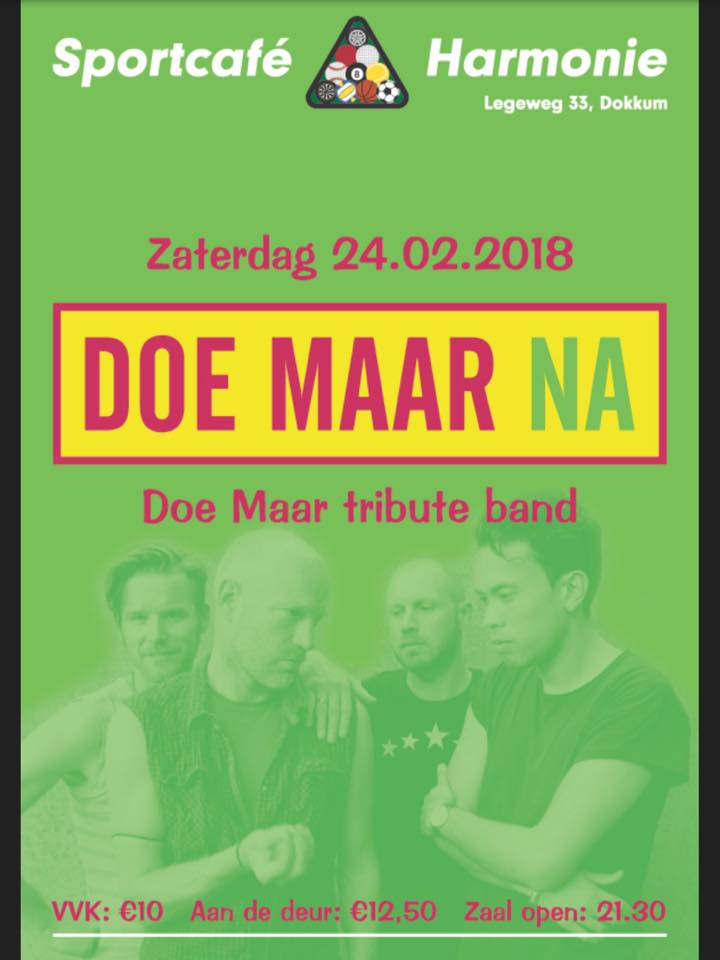 Coverband Doe Maar @ Sportcafé Harmonie