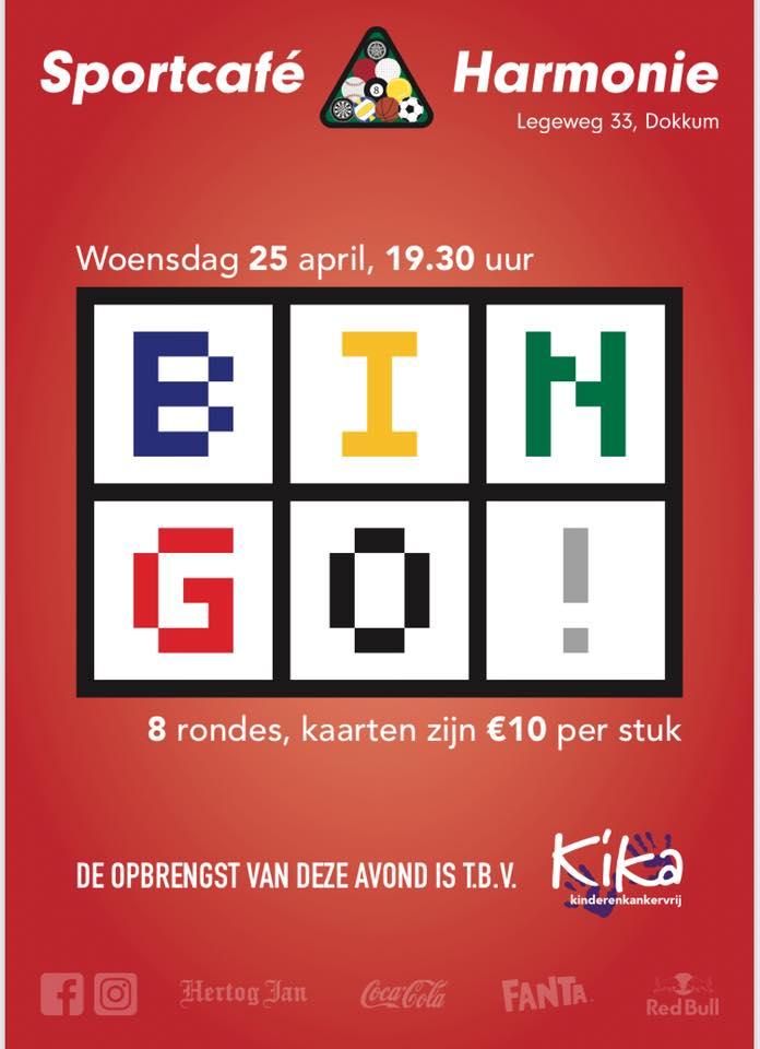 Super Bingo voor KiKa @ Sportcafe Harmonie
