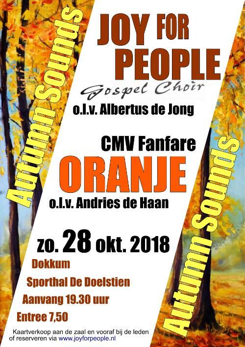 Dubbelconcert Fanfare Oranje en Joy for People