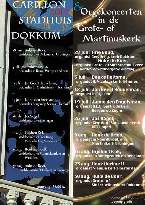 Orgelconcerten in de Grote- of Martinuskerk Dokkum