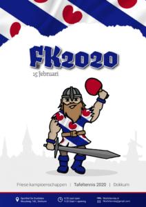 Friese tafeltenniskampioenschappen 2020 @ de Doelstien