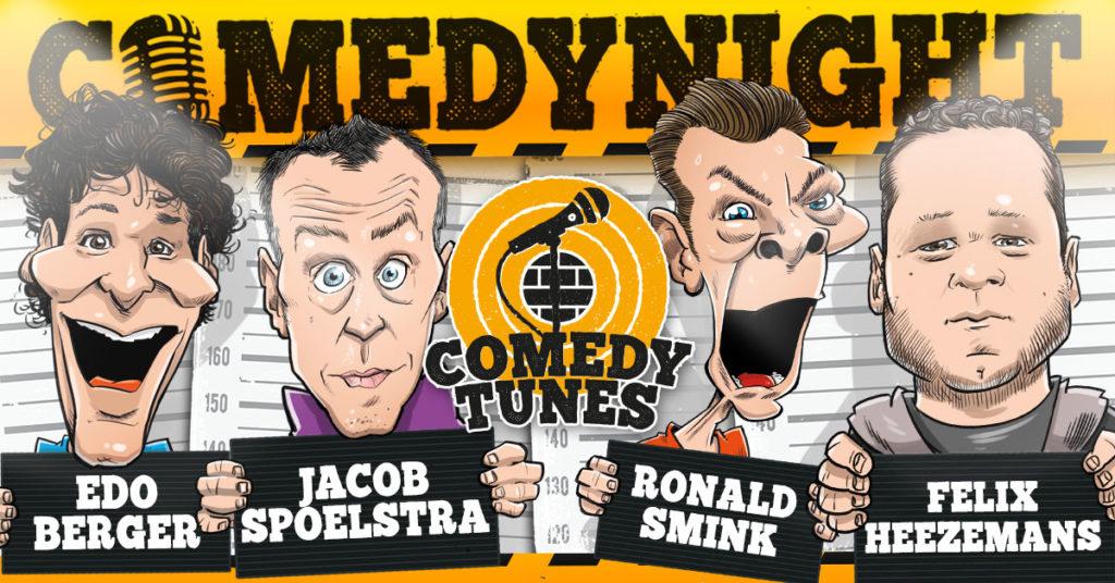 Comedytunes comedynights want er valt nooit genoeg te lachen!